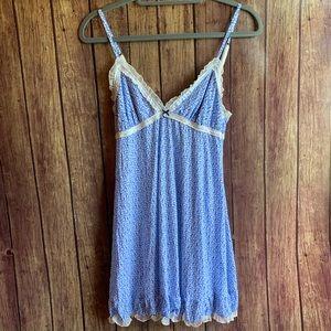3/$25 Victoria's Secret Blue Floral Night Gown